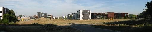 Panorama met gezicht op Limos terrein